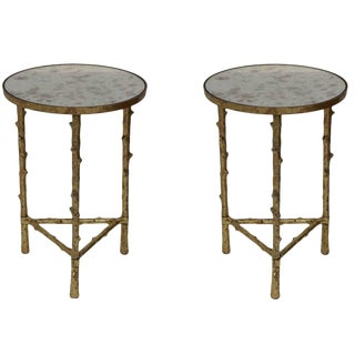 Glostrup Round Metal Side Tables - A Pair For Sale