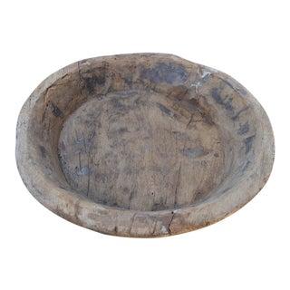 """Antique 18"""" Round Dough Bowl For Sale"""