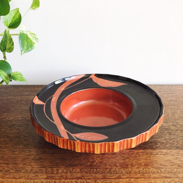 Japanese Vintage Japanese Hand Painted Ceramic Bowl For Sale - Image 3 of 6