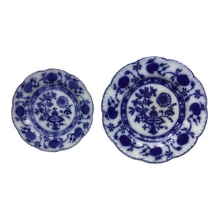 "Jonson Bros England ""Holland"" Flow Blue Plates - a Pair For Sale"