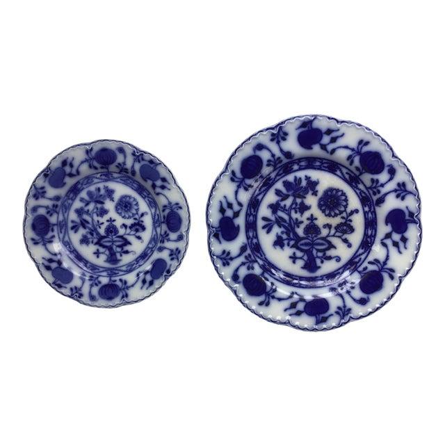 "Jonson Bros England ""Holland"" Flow Blue Plates - a Pair For Sale"