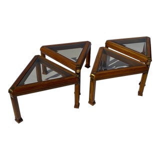 Mid 20th Century Gordon's Inc. Triangular Side Tables - Set of 4 For Sale