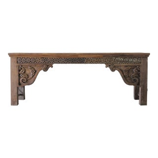 Decorative Wood & Iron Moroccan Style Console Table