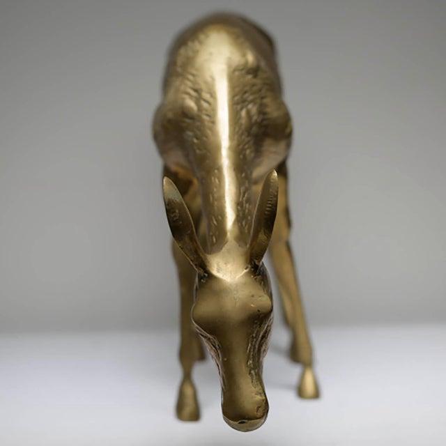 Mid-Century Modern Brass Deer - Image 6 of 6