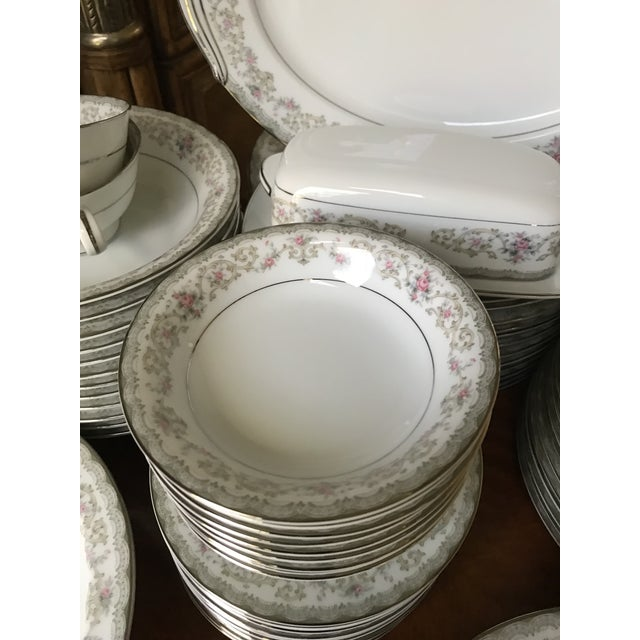 Blue Vintage Noritake # 5807 Edgewood Service for 12 Dinnerware - 94 Pieces,reduced Final For Sale - Image 8 of 12