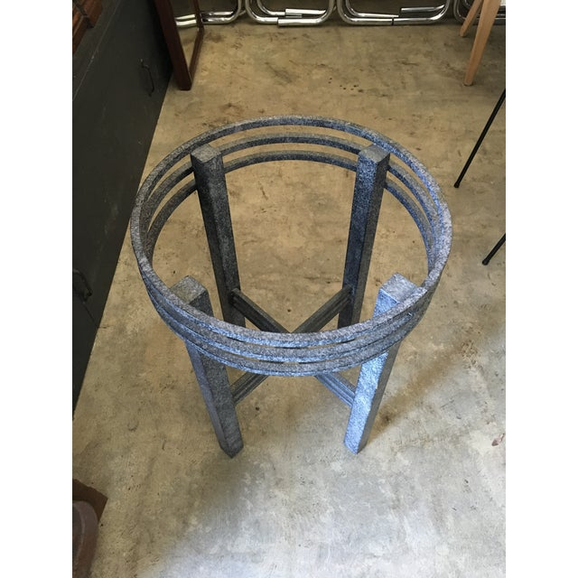 1980s Post Modern Sculptural Side Table For Sale - Image 9 of 11