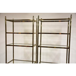 Hollywood Regency Style Brass Etageres- a Pair Preview