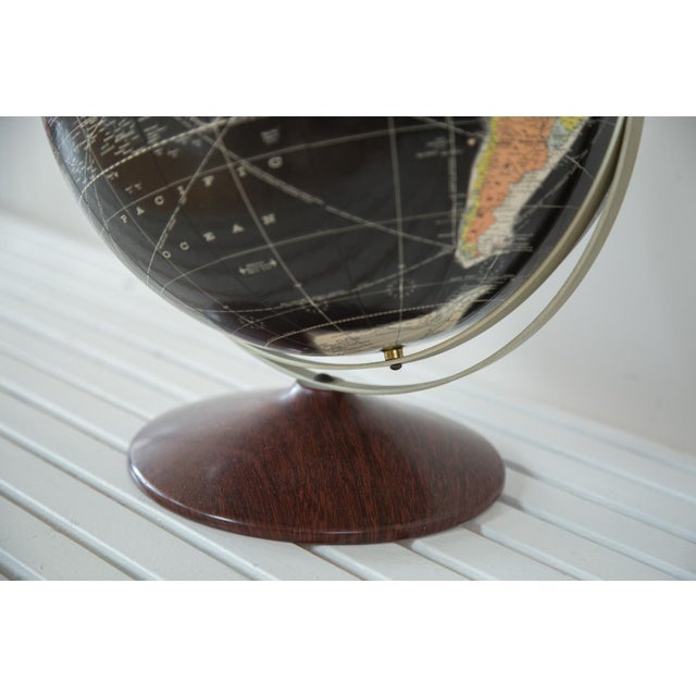 1960s Rand McNally Black Globe - Image 8 of 10