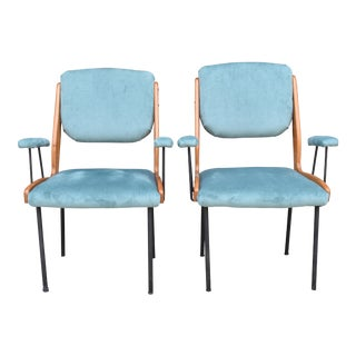 Vintage Italian Arm Chairs - A Pair For Sale