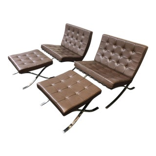 Knoll - Barcelona Chairs & Ottomans - Set of 4
