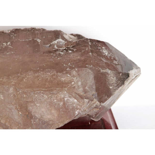 Large Smoky Quartz Crystal and Stand For Sale - Image 9 of 10