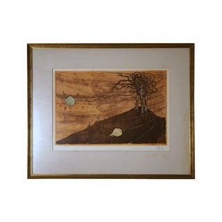Lars Bo Framed and Matted Aquatint Etching For Sale