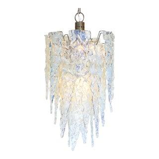 """""""Ghiacciolo"""" Murano Glass Iridescent Chandelier"""