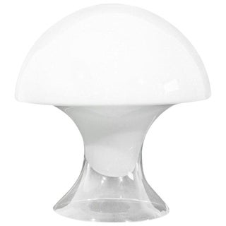 Mid-Century Modern Gino Vistosi Murano Glass Mushroom Table Lamp For Sale
