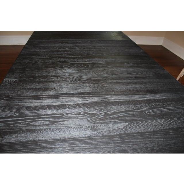 Restoration Hardware Black Dining Table - Image 6 of 7