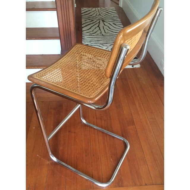 Marcel Breuer Style Cesca Bar Stool - A Pair For Sale - Image 4 of 7