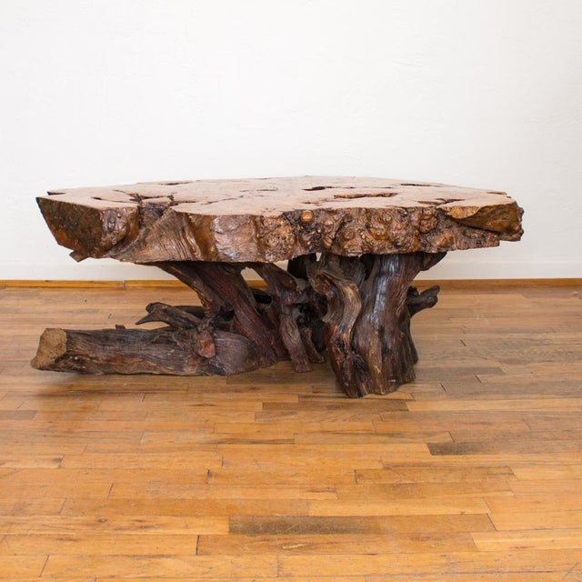 Live edge maple burlwood coffee table features a gorgeous organic shape that reminds me of the human heart, with all of...