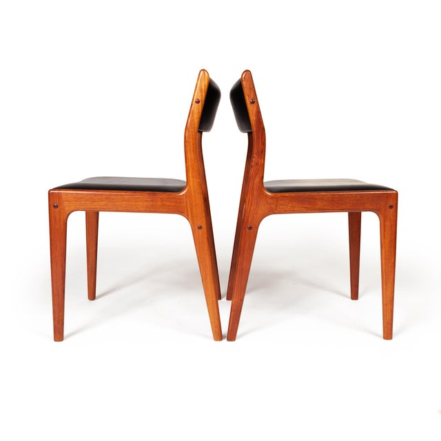 Johannes Andersen Uldum Møbelfabrik Danish Teak Dining Chairs — Set of Four For Sale - Image 10 of 12