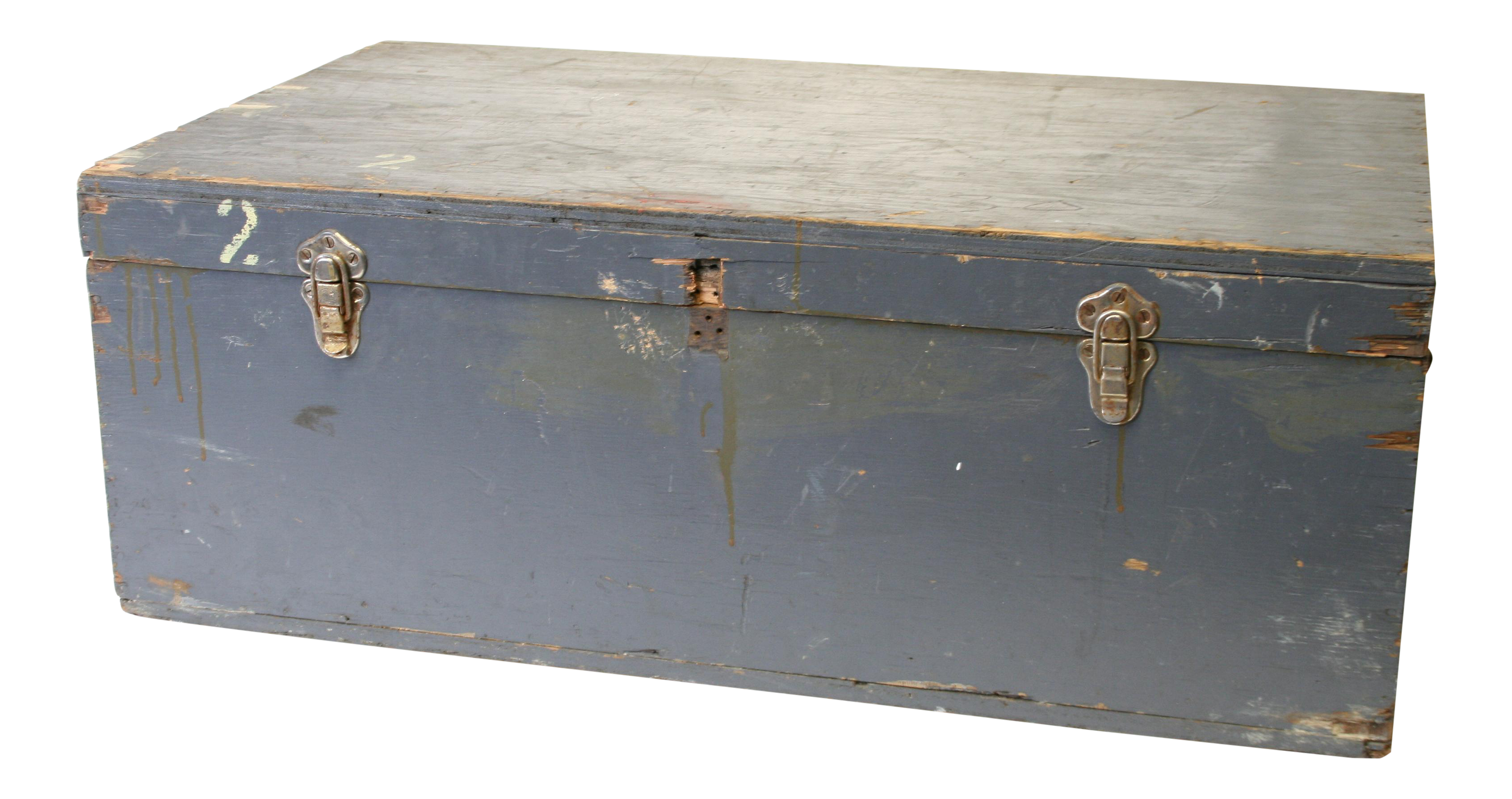 Vintage Industrial Military Blue Hinged Lid Storage Chest  sc 1 st  Chairish & Vintage Industrial Military Blue Hinged Lid Storage Chest