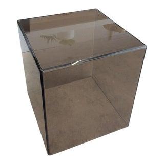 Alexandra Von Furstenberg | Modern Cube Acrylic Side Table For Sale