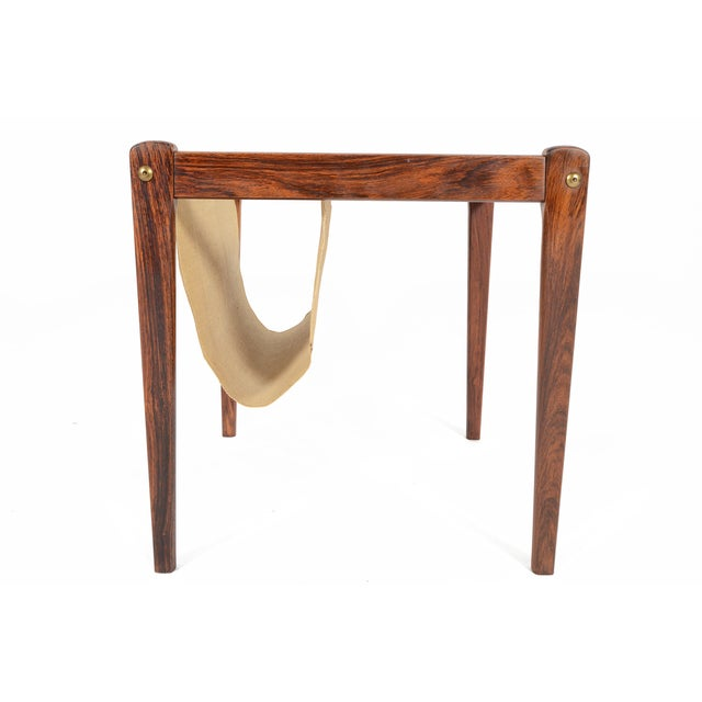 Bent Silberg Danish Modern Rosewood Side Table - Image 6 of 7