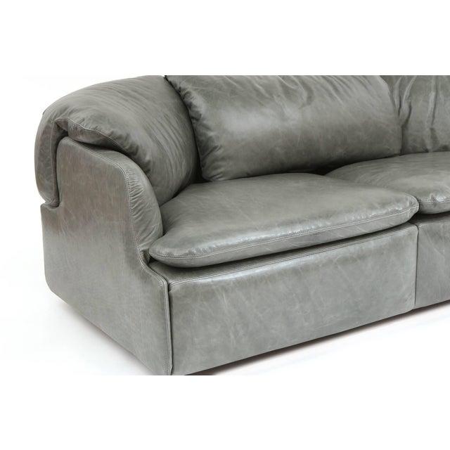 Saporiti 1970s Alberto Rosselli for Saporiti Leather Sofa For Sale - Image 4 of 8