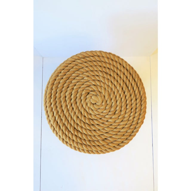 Tan Nautical Rope Round Side or End Table For Sale - Image 8 of 10