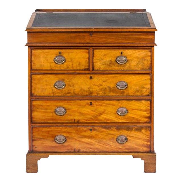George III Mahogany Standing Bureau For Sale