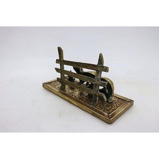 Antique Brass Fox Letter Holder - Image 4 of 6