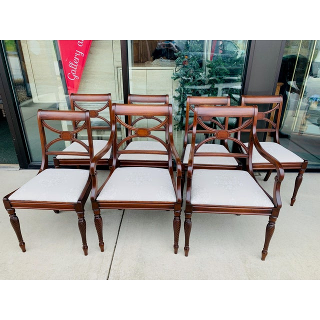 Vintage Berkey and Gay Dining Table and 7 Chairs - 8 Pieces For Sale - Image 9 of 13