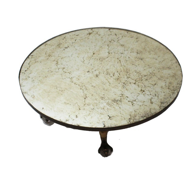 Hollywood Regency Round Mirror Coffee Table - Image 6 of 7