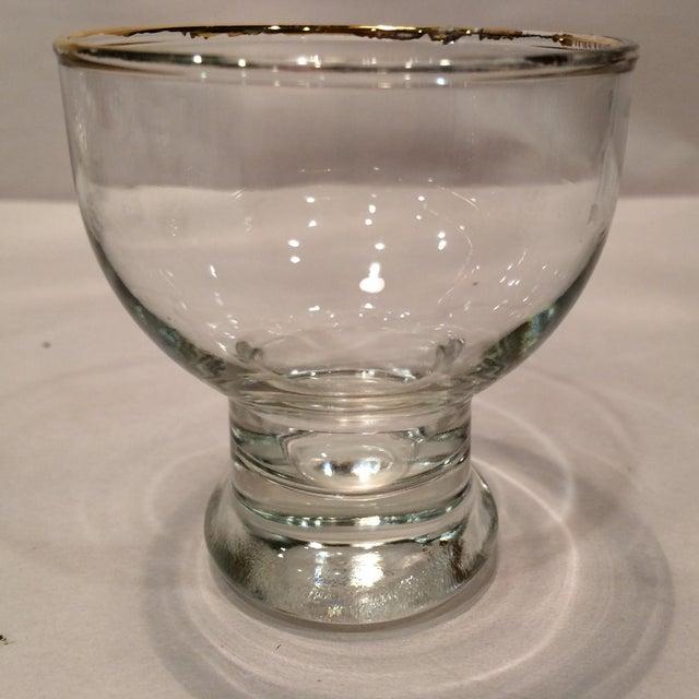 """Vintage """"L """" Monogrammed Crystal Aperitif Glasses - Set of 6 - Image 4 of 11"""