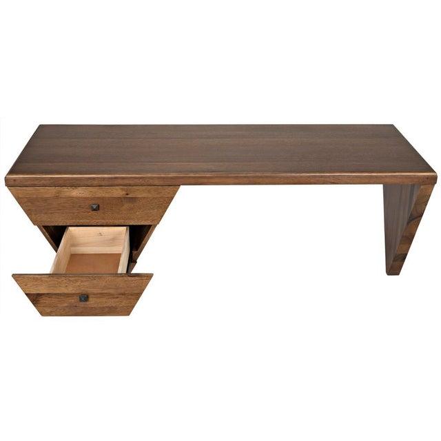 Wood Tetramo Desk, Dark Walnut For Sale - Image 7 of 13