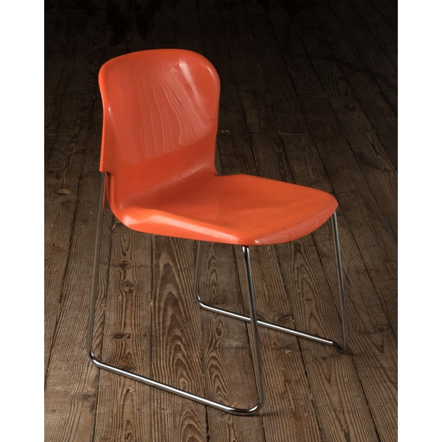 """1970s 1976 Vintage Gerd Lange """"Swing Chairs"""" - Set of 6 For Sale - Image 5 of 13"""