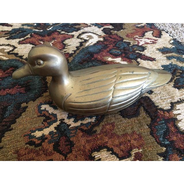 Vintage Brass Mallard Duck - Image 3 of 4