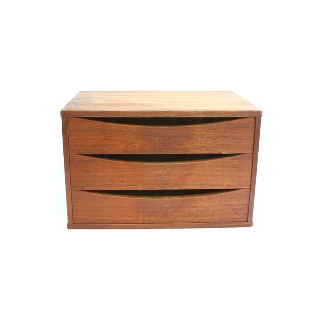 Arne Vodder Teak File Box Desk Organizer - Image 2 of 5