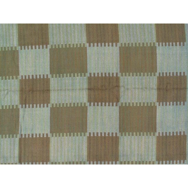 "2010s Pasargad Scandinavian Design New Zealand Overdyed Wool Rug - 7′7"" × 9′1"" For Sale - Image 5 of 6"