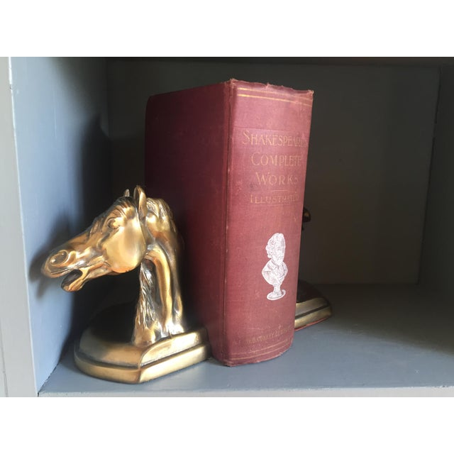 Brass Equestrian Bookends - A Pair - Image 5 of 5