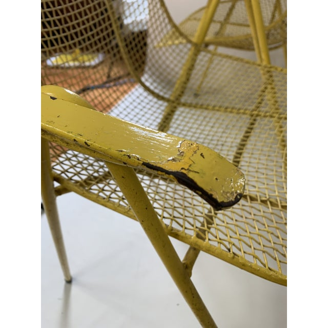 Yellow Russell Woodard Mid-Century Modern Sculptura Outdoor Dining Chairs - Set of 6 For Sale - Image 8 of 13