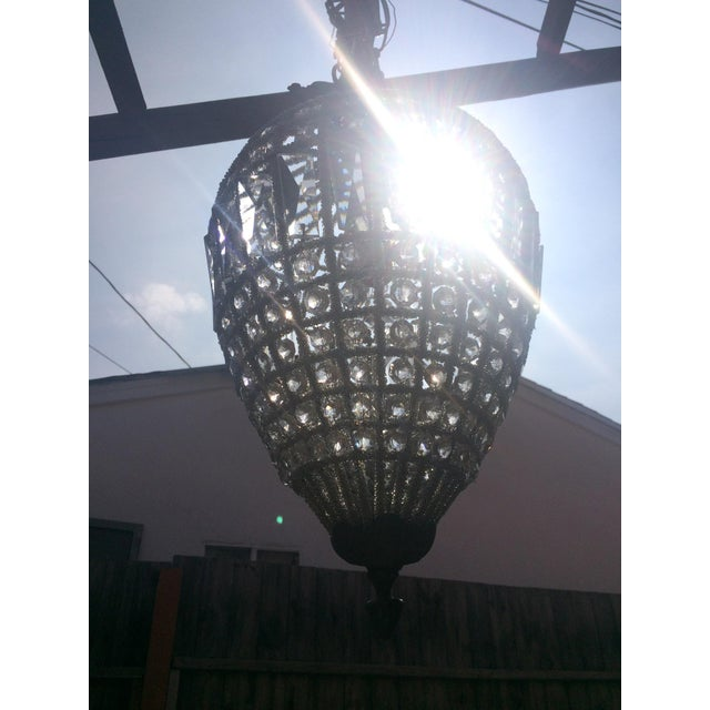 French Small French Beaded Teardrop Chandelier For Sale - Image 3 of 5