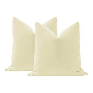"22"" Cashmere Mohair Velvet Pillows - a Pair For Sale"
