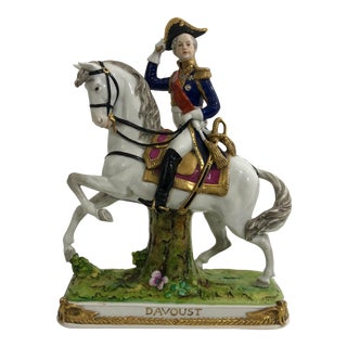 German Porcelain Statue of Napoleonic General Davoust For Sale