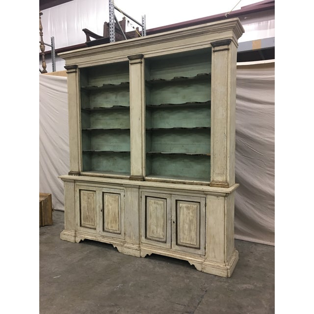 19th Century Italian Tuscan Painted Bookcase Display Cabinet For Sale - Image 9 of 13