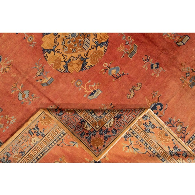 """Apadana-Antique Indo Chinese Rug, 12'0"""" X 13'6"""" For Sale - Image 4 of 11"""