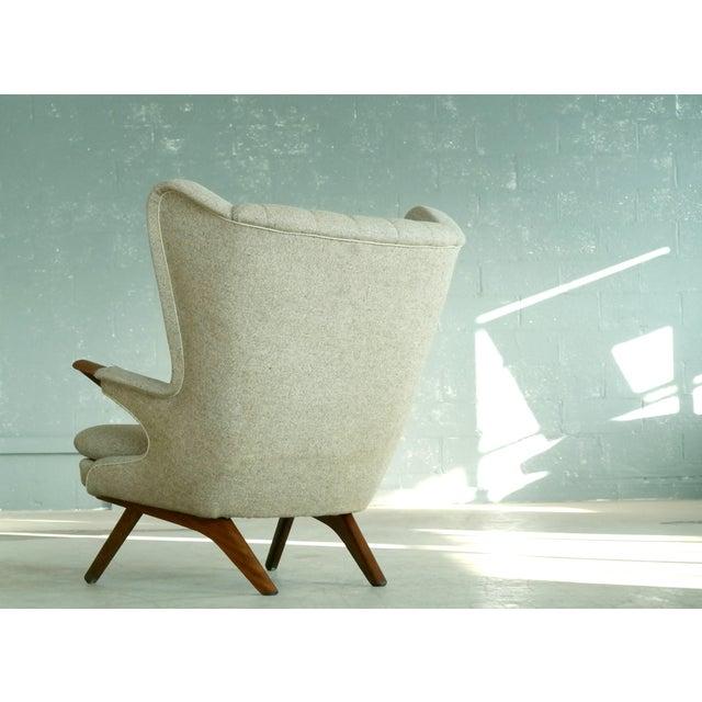 White Sven Skipper 1960s Papa Bear Chair Model 91 in the Style of Hans Wegner For Sale - Image 8 of 11