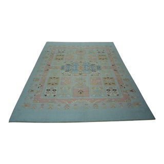 Turkish Oushak Hand-Knotted Wool Rug - 8'4″ X 10'10""