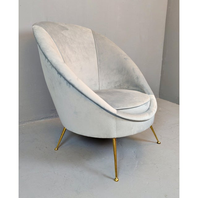 Italian Mid-Century Armchairs - a Pair For Sale - Image 6 of 12