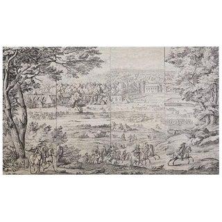French Provincial Toile De Jouy Textile Panels For Sale