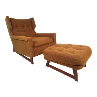 Midcentury Adrian Pearsall Style Lounge Chair and Ottoman by Weiland For Sale
