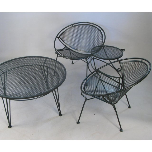 Mid-Century Modern 1950s Salterini Radar Tete a Tetes and Cocktail Table- 3 Pieces For Sale - Image 3 of 9